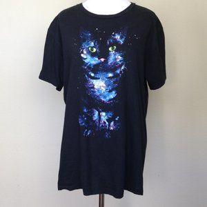 Hybrid Black Cat Tshirt large